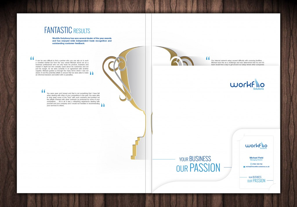WorkFlo Presentation Folder, Brochure and Business Card